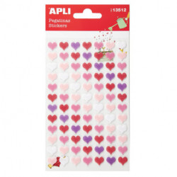 Stickers Apli Bolsa 1h Fieltro Corazon Rosa (13512)