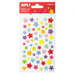 Stickers Apli Bolsa 1h Estrellas Color (13510)