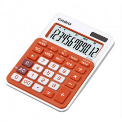 Calculadora Sobremesa Casio 12 Digitos Ms-20uc Naranja